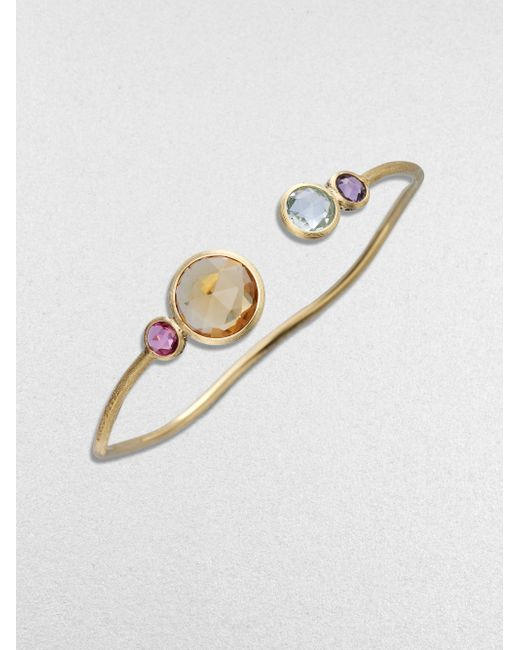 Marco Bicego | Metallic Jaipur Semi-precious Multi-stone & 18k Yellow Gold Bracelet | Lyst