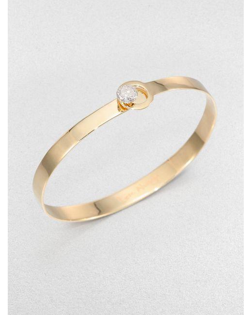 Phillips House | Metallic Love Always Diamond & 14k Yellow Gold Bangle Bracelet | Lyst