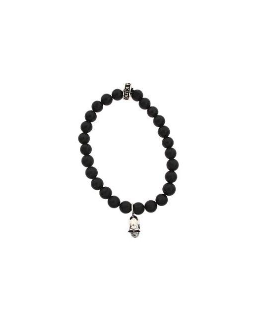 King Baby Studio | Black Onyx Bead And Silver Skull Bracelet for Men | Lyst