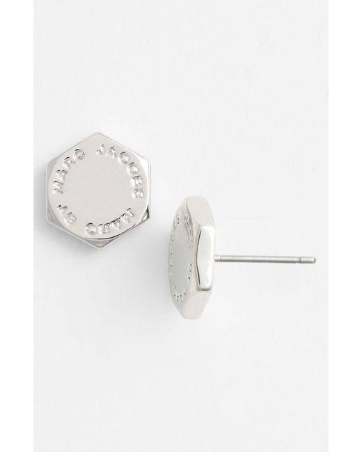 Marc By Marc Jacobs   Metallic 'bolts' Logo Stud Earrings   Lyst
