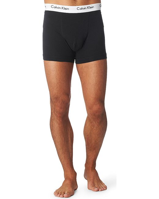 Calvin Klein | Black Pack Of Three Stretch-cotton Trunks for Men | Lyst