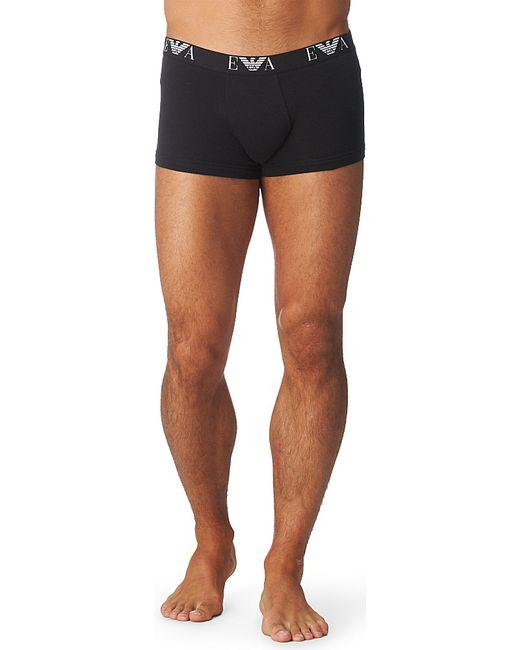 Emporio Armani | Black Two Pack Logo–waistband Trunks for Men | Lyst