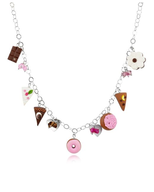 Dolci Gioie | Metallic Sterling Silver Charm Necklace | Lyst