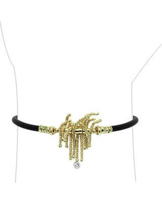 Orlando Orlandini | Metallic Flirt - 18k Gold & Rubber Bracelet W/ Diamond | Lyst