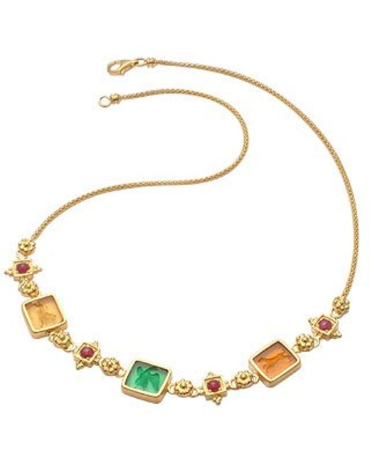 Tagliamonte | Metallic Classic Collection - 18k Gold And Ruby Necklace | Lyst