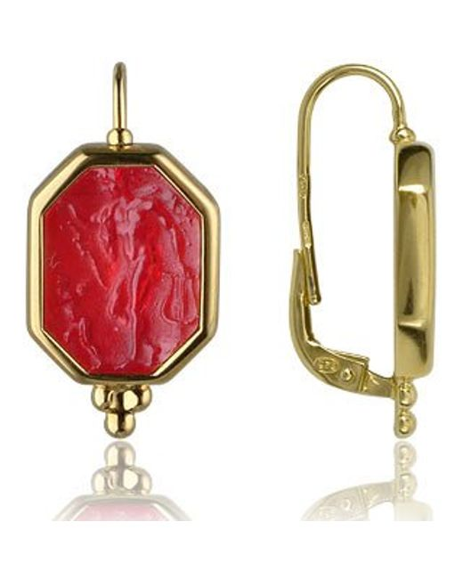 Tagliamonte | Classics Collection - Red 18k Gold Drop Earrings | Lyst