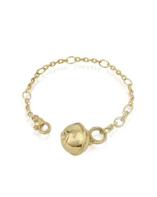 Torrini | Metallic Ball - 18k Gold And Diamond Charm Bracelet | Lyst