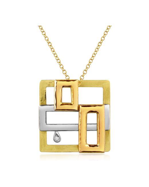 Torrini - Metallic Cubisme Diamond 18k Gold Pendant Necklace - Lyst