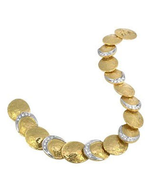 Torrini | Metallic Lenticchie - 18k Gold And Diamond Bracelet | Lyst