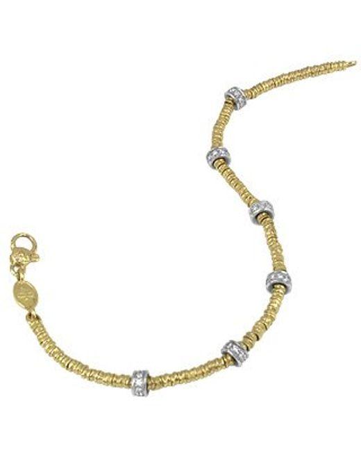 Torrini | Metallic Rondelle Moving Mini - 18k Gold And Diamond Chain Bracelet | Lyst