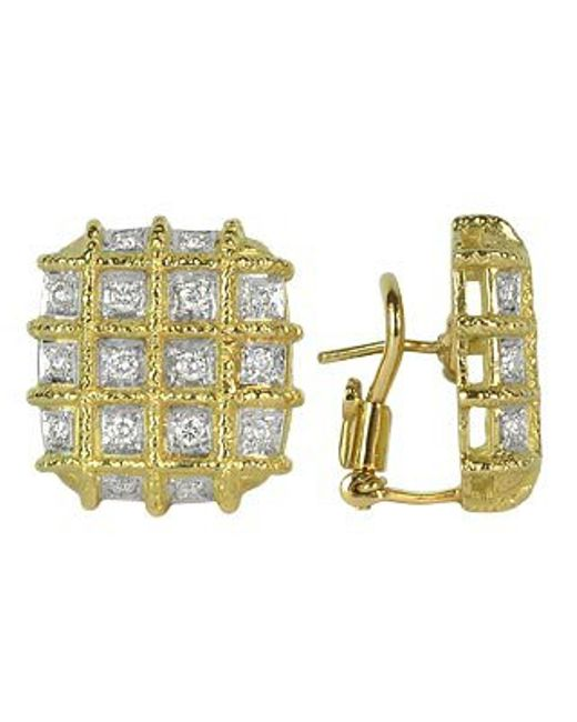 Torrini | Wallstreet - 18k Yellow Gold Diamond Earrings | Lyst