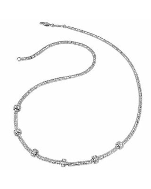 Torrini | Metallic Rondelle Moving Mini - White Gold And Diamond Necklace | Lyst