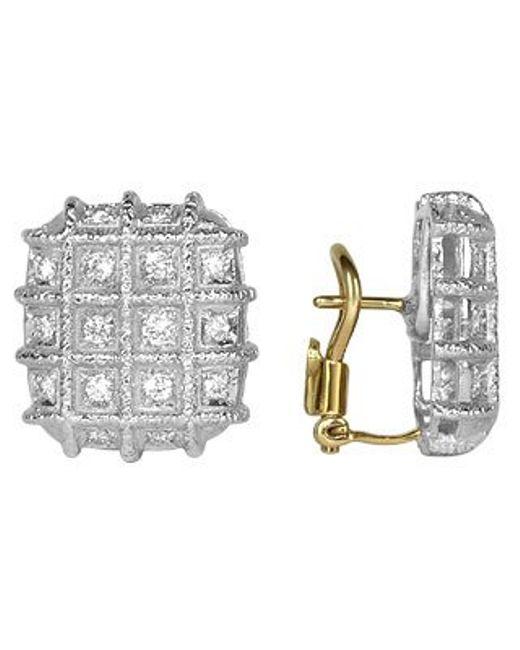 Torrini | Metallic Wallstreet Collection - 18k White Gold Diamond Earrings | Lyst