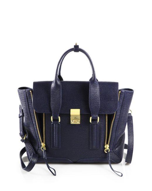 3.1 Phillip Lim | Blue Pashli Medium Zip Satchel Bag | Lyst