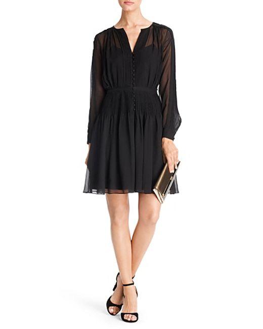 Diane von Furstenberg | Black Zoe Embellished Crepe Wrap Dress | Lyst