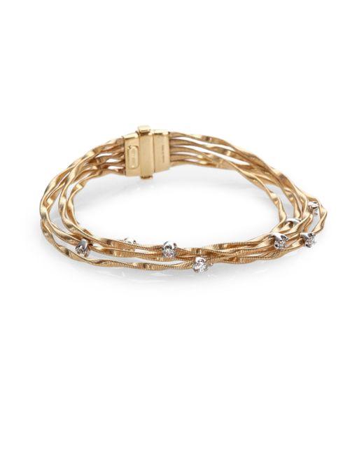 Marco Bicego   Metallic Mini Marrakech Diamond & 18k Yellow Gold Multi-row Bracelet   Lyst