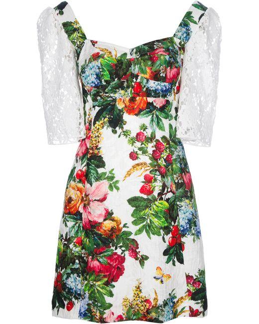 Dolce & Gabbana   Black Brushstroke Print Dress   Lyst
