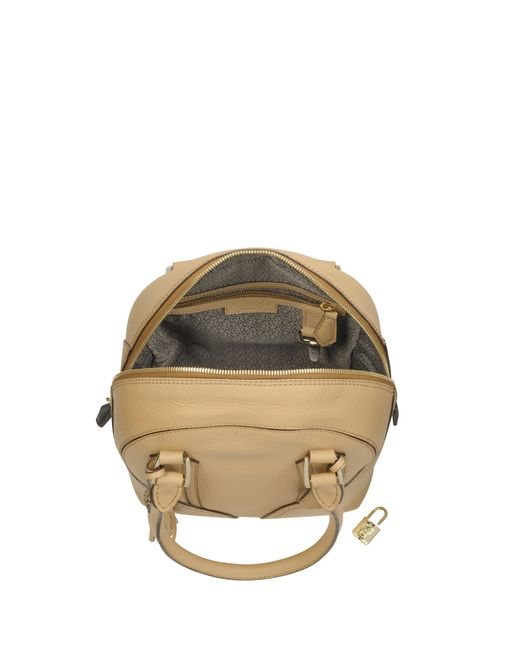 Pineider | Beige Mini Bowling Leather Satchel Bag | Lyst