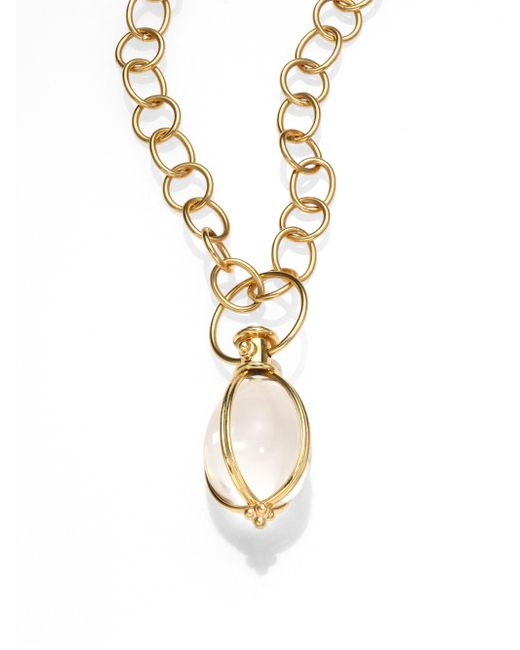 Temple St. Clair | Metallic Classic Rock Crystal & 18k Yellow Gold Amulet | Lyst