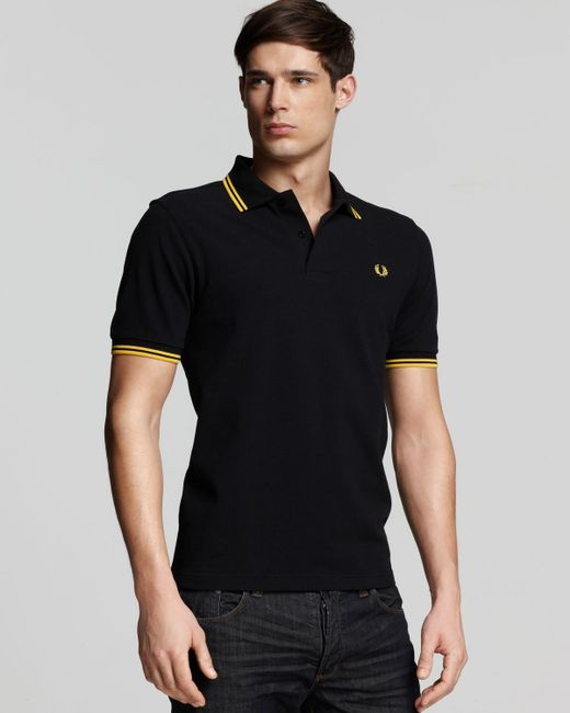 Fred Perry | Yellow Tipped Logo Regular Fit Polo Shirt for Men | Lyst