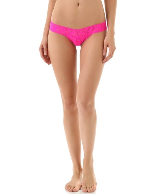 Hanky Panky | Pink Signature Lace Low Rise Thong | Lyst