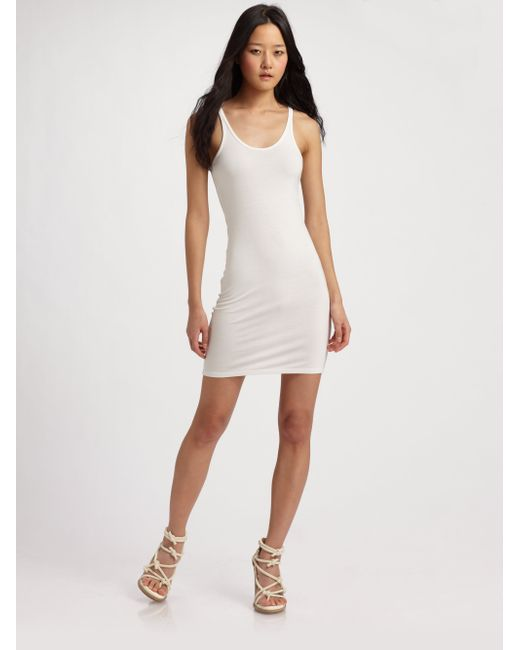 T By Alexander Wang | White Stretch Jersey Tank Dress | Lyst