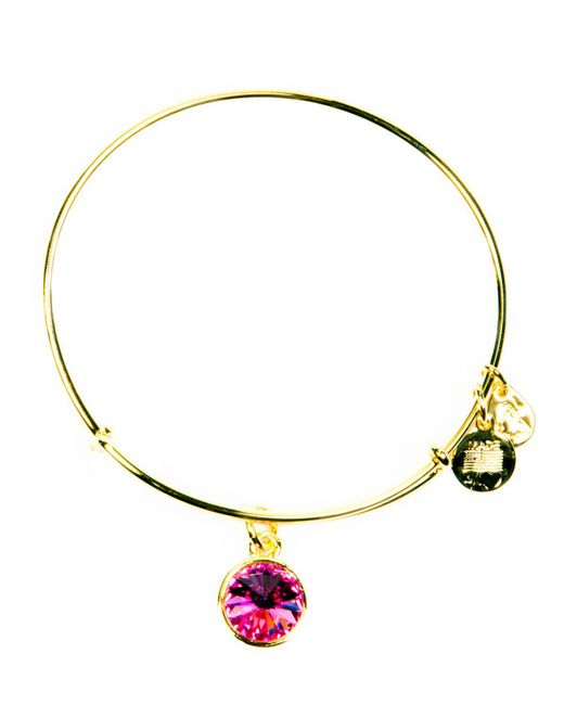 ALEX AND ANI | Yellow October Birthstone Bangle | Lyst