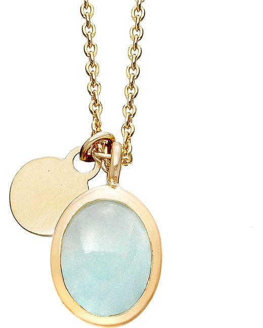 Astley Clarke | Metallic Milky Aquamarine Cadenza Pendant Necklace | Lyst