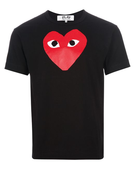 Play Comme Des Gar Ons 39 Red Play 39 T Shirt In Black For Men