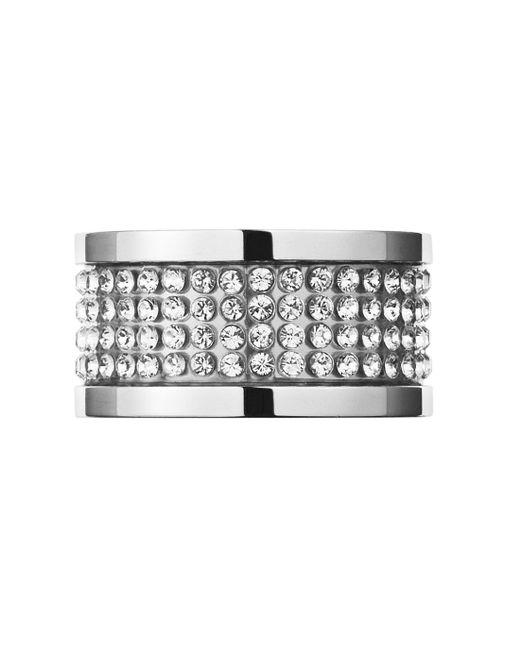 Dyrberg/Kern | Metallic Emily Silver Crystal Ring | Lyst