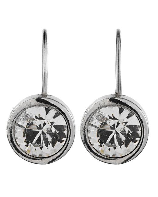 Dyrberg/Kern | Metallic Louise Silver Crystal Earrings | Lyst