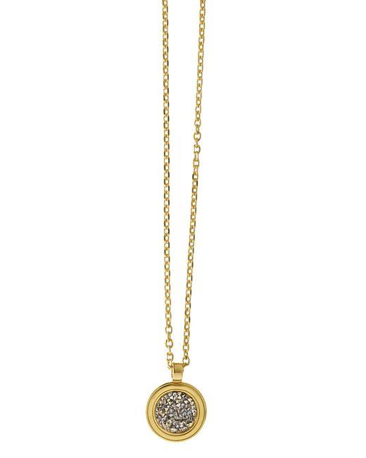 Dyrberg/Kern | Metallic Margo Shiny Gold Grey Necklace | Lyst