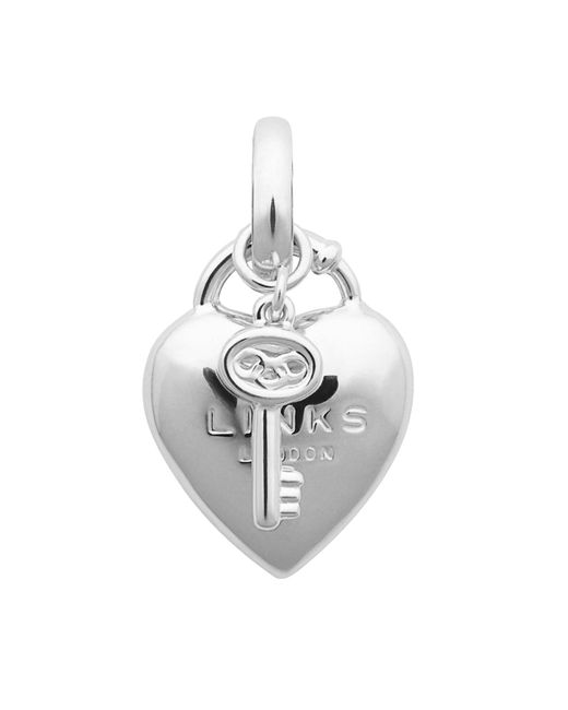 Links of London | Metallic Heart Padlock Charm | Lyst
