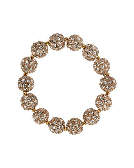 Mikey | Metallic Crystal Heavy Bracelet | Lyst
