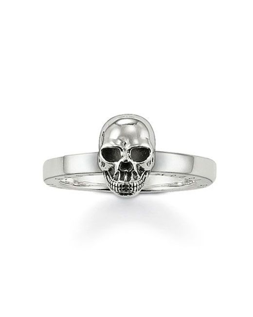 Thomas Sabo | Metallic Rebel At Heart Silver Skull Ring | Lyst