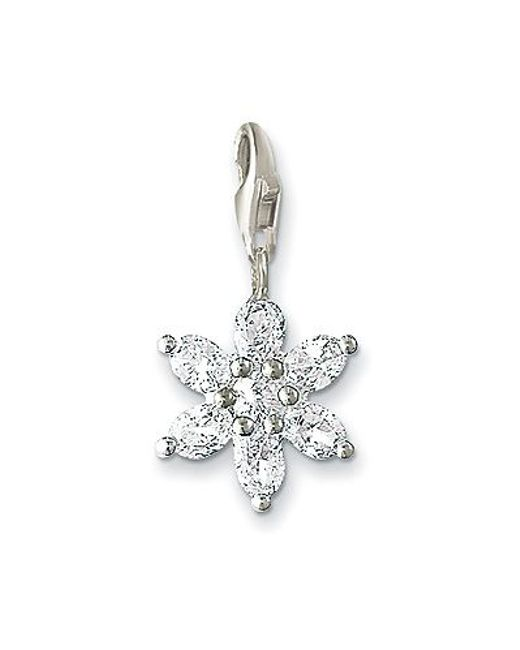 Thomas Sabo | White Charm Club Flower With Zirconia | Lyst