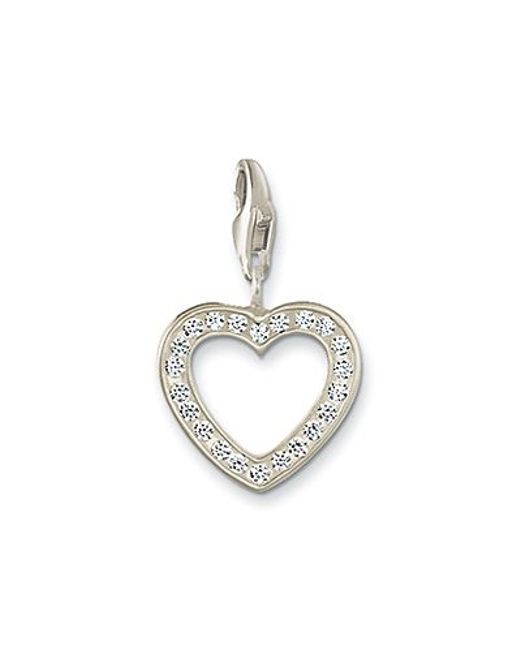 Thomas Sabo | White Charm Club Open Heart | Lyst
