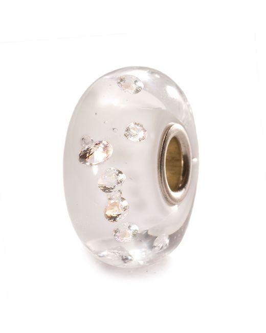 Trollbeads | White Diamond Bead Glass Charm Bead | Lyst