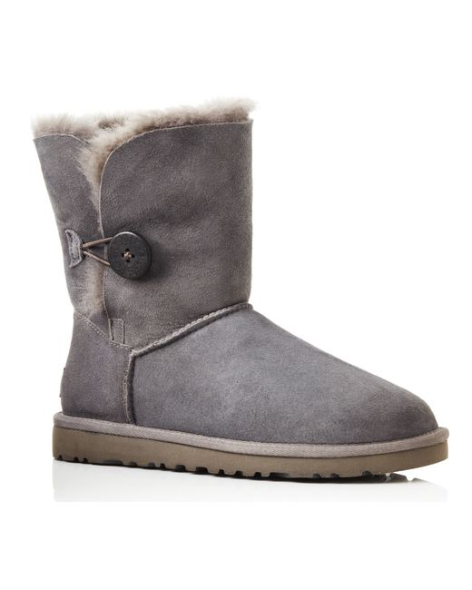 UGG | Gray B Button Short Boots | Lyst