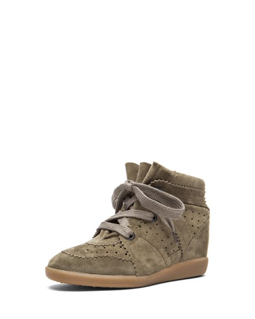 Isabel Marant | Gray Bobby Suede Wedge Sneakers | Lyst
