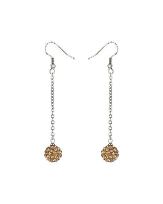 Mikey | Metallic 10mm Crystal Drop Earrings | Lyst