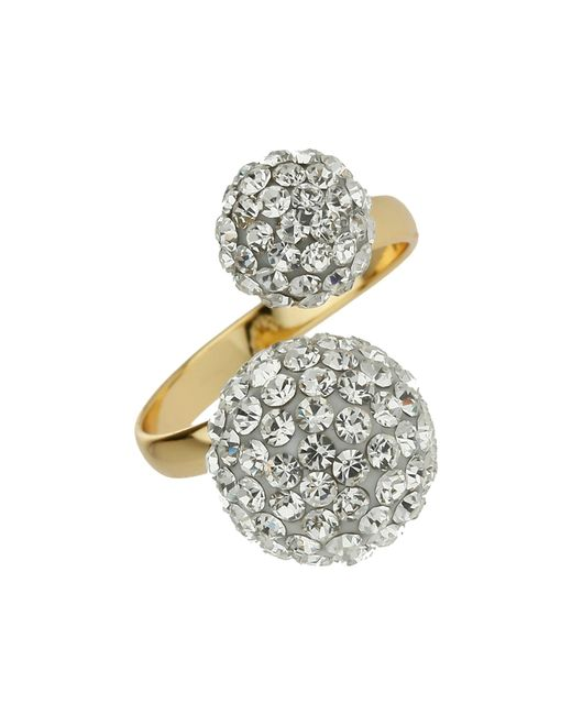 Mikey | Metallic Twin Stone Cluster Ring | Lyst