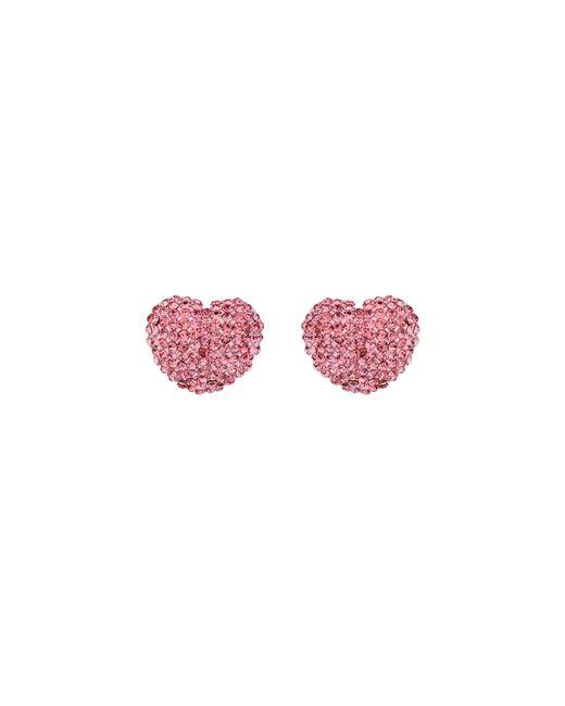 Mikey | Pink Heart Earrings | Lyst