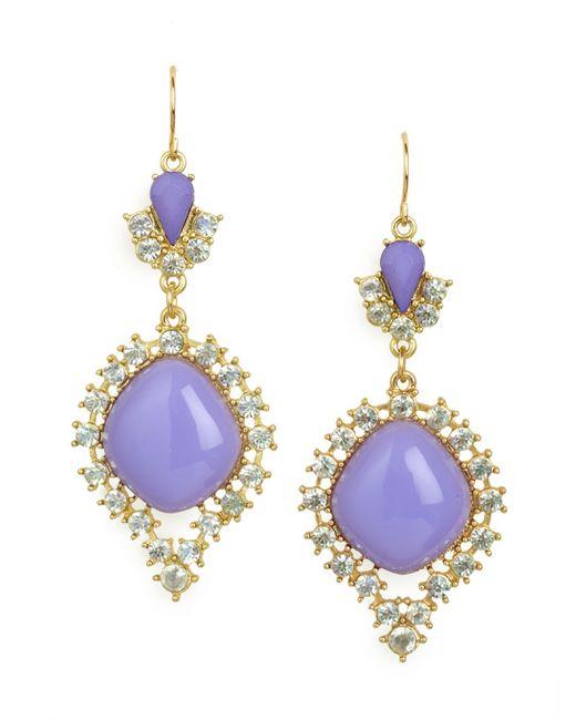 BaubleBar | Purple Violet Crystal Cabochon Drops | Lyst