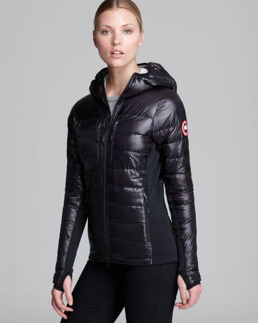 Canada Goose Hybridge Light Hooded Jacket In Black Lyst
