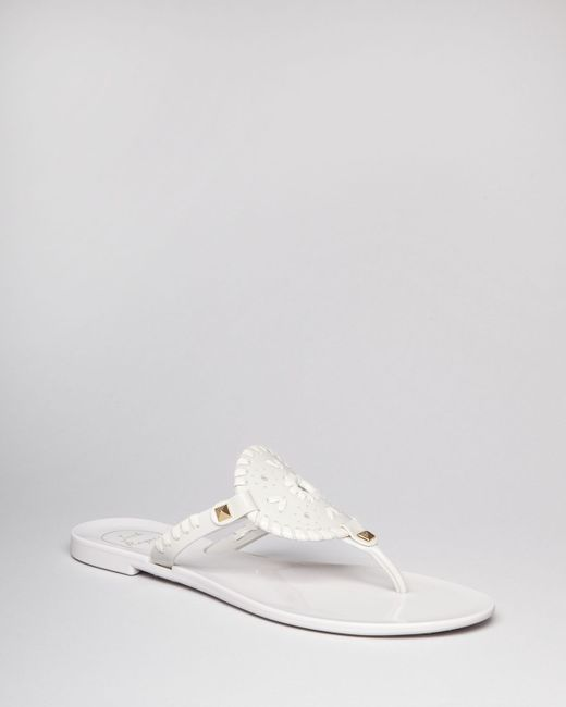 Jack Rogers Thong Sandals Georgica Jelly In White Lyst
