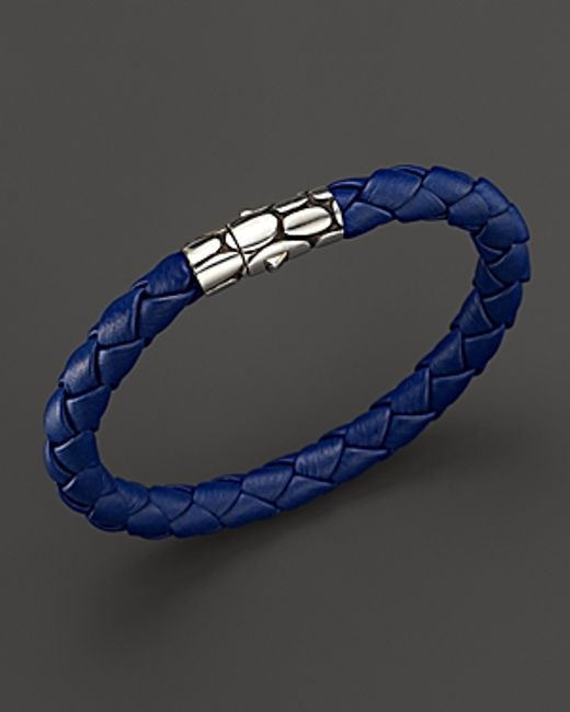 John Hardy | Metallic Kali Woven Leather Bracelet for Men | Lyst
