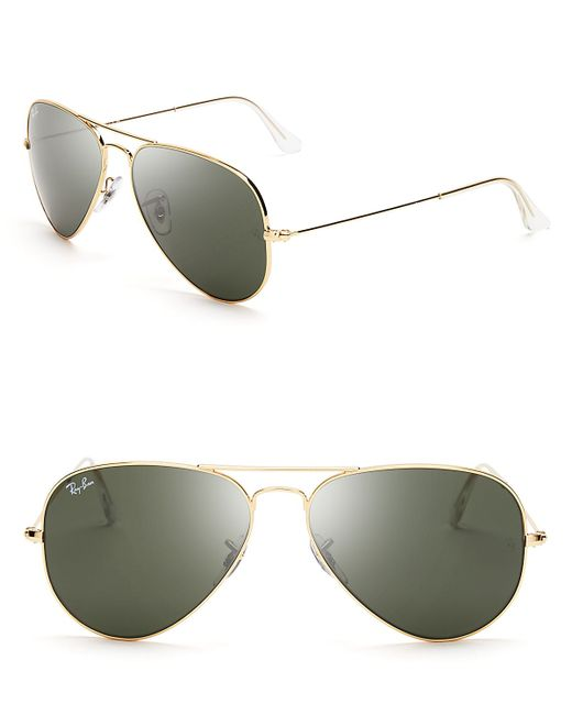 Gold Aviator Glasses Frames : Ray-ban Aviator Sunglasses in Gold Lyst