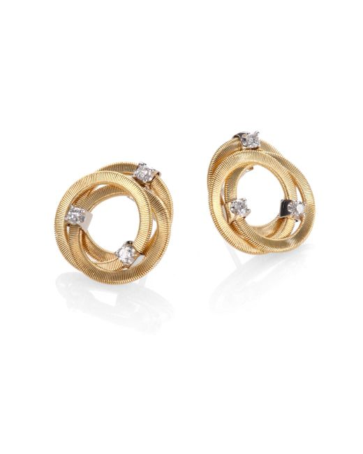 Marco Bicego | Metallic Goa Diamond & 18k Yellow Gold Earrings | Lyst