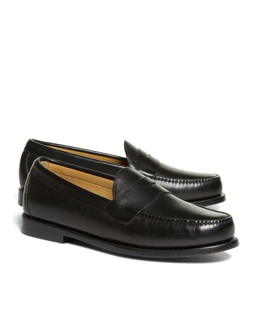 Brooks Brothers | Black Classic Penny Loafers for Men | Lyst